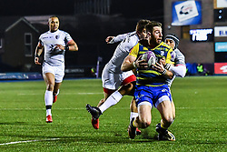 Alex Cuthbert of Cardiff Blues is tackled by Sofiane Guitoune of Toulouse - Mandatory by-line: Craig Thomas/JMP - 14/01/2018 - RUGBY - BT Sport Cardiff Arms Park - Cardiff, Wales - Cardiff Blues v Toulouse - European Rugby Challenge Cup