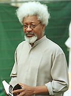 Exiled Nigerian Nobel prize-winning author Wole Soyinka who was appearing with Spanish writer Juan Goytisolo at the Edinburgh International Book Festival. They were appearing together for a talk entitled 'the Role of the Writer'..