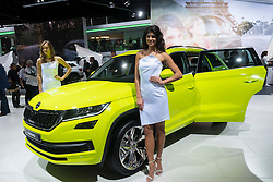 World premiere of Skoda Kodiaq large SUV at Paris Motor Show 2016