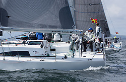 Pelle P Kip Regatta 2017 run by Royal Western Yacht Club at Kip Marina on the Clyde. <br /> <br /> GBR7667R, Now or Never 3, Neil Sandford, Fairlie YC, Mat 1010<br /> <br /> Image Credit Marc Turner