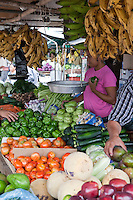 The San Ignacio market in Belize is loaded up with all types of fresh produce.
