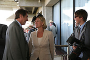 Bryan Ferry, The Countess of March and Merlin Ferry, Glorious Goodwood. 31 July 2007.  -DO NOT ARCHIVE-© Copyright Photograph by Dafydd Jones. 248 Clapham Rd. London SW9 0PZ. Tel 0207 820 0771. www.dafjones.com.