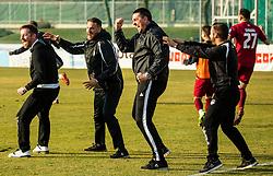 Dejan Doncic, head coach of Triglav and assistant coaches during Football match between NK Triglav and NK Olimpija Ljubljana in 22nd Round of Prva liga Telekom Slovenije 2018/19, on March 9, 2019, in Sports centre Kranj, Slovenia. Photo by Vid Ponikvar / Sportida