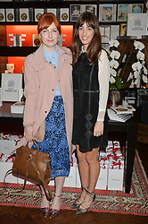 Left to right, ALICE LEVINE and LAURA JACKSON at the launch of new book 'Farfetch Curates: Food' at Maison Assouline, Piccadilly, London on 24th March 2015.