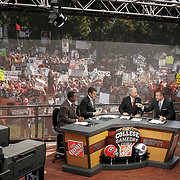 The ESPN College GameDay crew broadcasts live from The University of South Carolina Horseshoe before the South Carolina-Georgia game in Columbia, S.C.   ©Travis Bell Photography