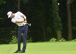 July 15, 2018 - Silvis, Illinois, U.S. - SILVIS, IL - JULY 15:  Sam Ryder hits his second shot on the #6 hole during the final round of the John Deere Classic on July 15, 2018, at TPC Deere Run, Silvis, IL.  (Photo by Keith Gillett/Icon Sportswire) (Credit Image: © Keith Gillett/Icon SMI via ZUMA Press)