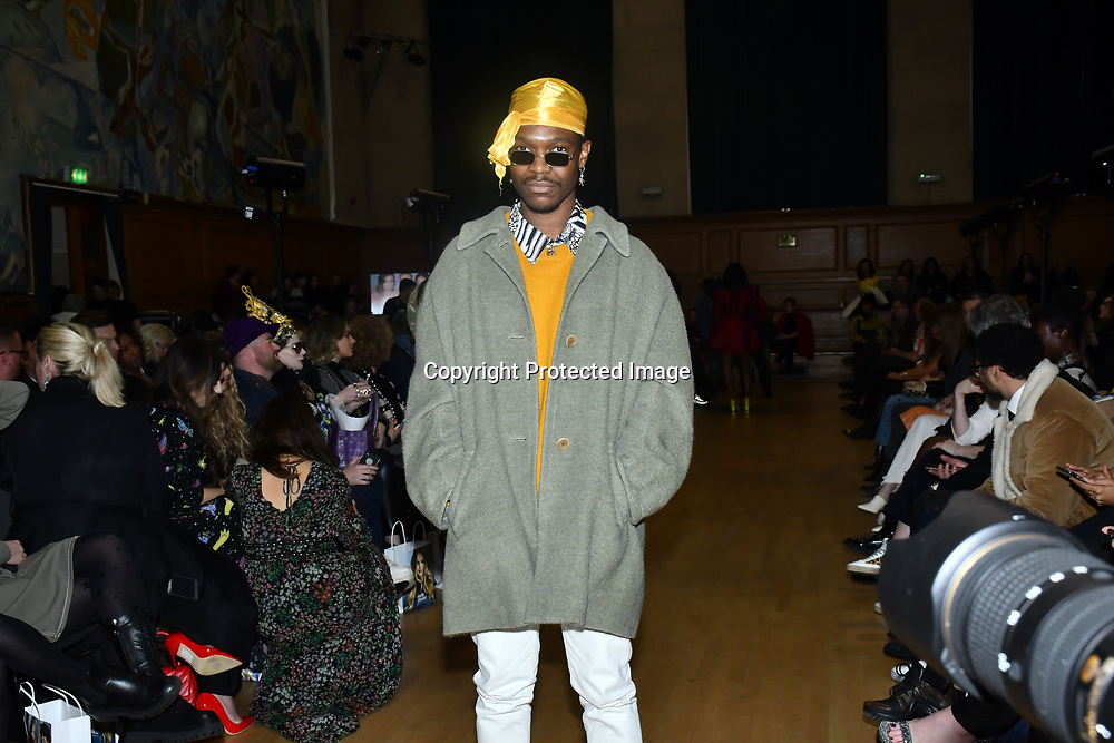 Vip guest attends The British luxury Womenswear designer, Chanel Joan Elkayam, showcases her Autumn - Winter 2020 show ahead of London Fashion Week on 13 February 2020 at Cecil Sharp House, London, UK.