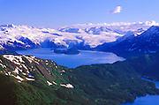Aerial view of Blackstone Glacier and Blackstone Bay, Chugach Mountains, Prince William Sound, Alaska