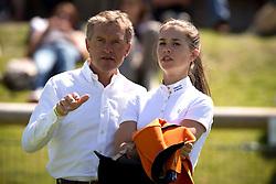 Nooren Henk and doughter Lisa (NED)<br /> European Championship Poney - Fontainebleau 2012<br /> © Dirk Caremans