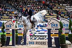 OPLATEK Andrzej (POL), Stakkatan<br /> München - Munich Indoors 2018<br /> Championat von München<br /> DKB-Riders Tour Qualifikation zur Wertungsprüfung<br /> 24. November 2018<br /> © www.sportfotos-lafrentz.de/Stefan Lafrentz