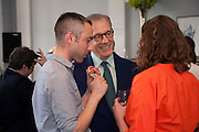 PABLO BRONSTEIN; GARY TINTEROW; MELISSA APPLETON, Pablo Bronstein, Sketches for Regency Living. Discussion and lunch. ICA. The Mall. London. 7 June 2011. <br /> <br />  , -DO NOT ARCHIVE-© Copyright Photograph by Dafydd Jones. 248 Clapham Rd. London SW9 0PZ. Tel 0207 820 0771. www.dafjones.com.