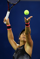 WUHAN, Sept. 27, 2017 Caroline Garcia of France serves during the singles third round match against Dominika Cibulkova of Slovakia at 2017 WTA Wuhan Open in Wuhan, capital of central China's Hubei Province, on Sept. 27, 2017. Caroline Garcia won 2-0.  wdz) (Credit Image: © Cheng Min/Xinhua via ZUMA Wire)