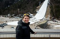 Photographer Vid Ponikvar 1 week before FIS Ski Flying World Cup, on March 14, 2017 in Planica, Slovenia. Photo by Alenka Teran Kosir/ Sportida