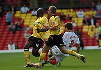 Photo: Tony Oudot.<br /> Watford v Southampton. Coca Cola Championship. 16/09/2007.<br /> Grzegorz Rasiak of Southampton scores