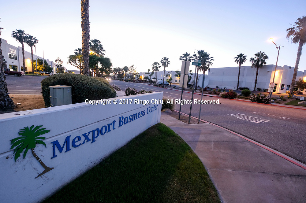 A business center in Calexico (the US and Mexico border), California on Wednesday April 19, 2017. (Xinhua/Zhao Hanrong)(Photo by Ringo Chiu/PHOTOFORMULA.com)<br /> <br /> Usage Notes: This content is intended for editorial use only. For other uses, additional clearances may be required.