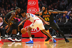 January 28, 2019 - Los Angeles, CA, U.S. - LOS ANGELES, CA - JANUARY 28: Los Angeles Clippers Guard Shai Gilgeous-Alexander (2) loses the ball being defended by Atlanta Hawks Forward DeAndre' Bembry (95) during a NBA game between the Atlanta Hawks and the Los Angeles Clippers on January 28, 2019 at STAPLES Center in Los Angeles, CA. (Photo by Brian Rothmuller/Icon Sportswire) (Credit Image: © Brian Rothmuller/Icon SMI via ZUMA Press)
