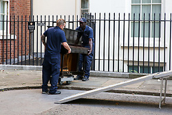 © Licensed to London News Pictures. 17/09/2019. London, UK. Removal men from Bishop's Move deliver a piano to No 11 Downing Street. Photo credit: Dinendra Haria/LNP