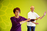 Seniors doing Tai Chi