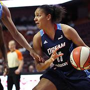 UNCASVILLE, CONNECTICUT- MAY 05:  Cierra Burdick #11 of the Atlanta Dreamduring the Atlanta Dream Vs Chicago Sky preseason WNBA game at Mohegan Sun Arena on May 05, 2016 in Uncasville. (Photo by Tim Clayton/Corbis via Getty Images)