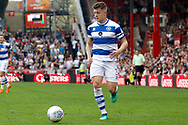 QPR defender Jake Bidwell (3) during the EFL Sky Bet Championship match between Brentford and Queens Park Rangers at Griffin Park, London, England on 21 April 2018. Picture by Andy Walter.