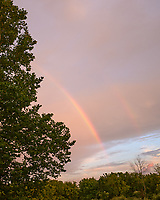 Partial Double Rainbow. Image taken with a Leica CL camera and 18 mm f/2.8 lens