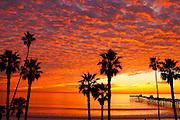 San Clemente Pier At Sunset