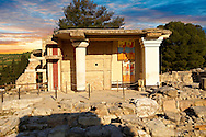 Arthur Evans reconstruction of  the South Propylaeum Knossos Minoan archaeological site, Crete ..<br /> <br /> Visit our GREEK HISTORIC PLACES PHOTO COLLECTIONS for more photos to download or buy as wall art prints https://funkystock.photoshelter.com/gallery-collection/Pictures-Images-of-Greece-Photos-of-Greek-Historic-Landmark-Sites/C0000w6e8OkknEb8 <br /> .<br /> Visit our MINOAN ART PHOTO COLLECTIONS for more photos to download  as wall art prints https://funkystock.photoshelter.com/gallery-collection/Ancient-Minoans-Art-Artefacts-Antiquities-Historic-Places-Pictures-Images-of/C0000ricT2SU_M9w