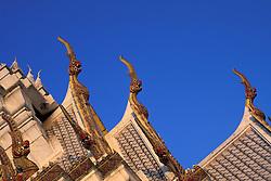 Asia, Thailand, Bangkok, Grand Palace. Tiled roof detail