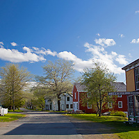 North America, Canada, Nova Scotia, Sherbrooke. Main street of Sherbrooke Village, an open air museum in Guysborough.