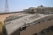 Israeli Merkava tank. Close up
