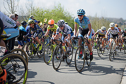 Lotta Lepistö and Ariana Fidanza take on Wolvenberg at the Women's Ronde van Vlaanderen 2017. A 153 km road race on April 2nd 2017, starting and finishing in Oudenaarde, Belgium. (Photo by Sean Robinson/Velofocus)