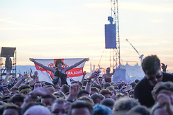 Crowds enjoying a performance by Liam Gallagher on the Main Stage at the 2017 Reading Festival. Photo date: Sunday, August 27, 2017. Photo credit should read: Richard Gray/EMPICS Entertainment