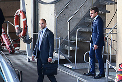 French Minister of the Economy, Industry and the Digital Sector Emmanuel Macron and his wife Brigitte Trogneux return to his ministry after offer his resignation to President Francois Hollande, in Paris, France on August 30, 2016. Photo by ABACAPRESS.COM