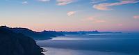 Scenic view of lofoten islands from Reinebringen peak, Reine, Lofoten islands, Norway