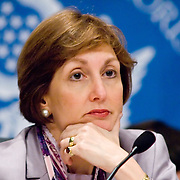 """Jamie Gorelick. Panel: FAA Response on 9/11. The 9/11 Commission's 12th public hearing on """"The 9/11 Plot"""" and """"National Crisis Management"""" was held June 16-17, 2004, in Washington, DC."""