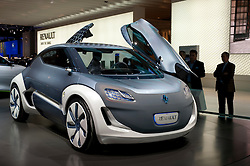 Futuristic Renault Zoe ZE concept electric car at the Frankfurt Motor Show 2009