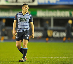 Cardiff Blues' Jarrod Evans<br /> <br /> Photographer Mike Jones/Replay Images<br /> <br /> Guinness PRO14 Round 14 - Cardiff Blues v Cheetahs - Saturday 10th February 2018 - Cardiff Arms Park - Cardiff<br /> <br /> World Copyright © Replay Images . All rights reserved. info@replayimages.co.uk - http://replayimages.co.uk