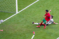 Cristiano Ronaldo of Portugal scores a goal during the UEFA Euro 2020, Group F football match between Portugal and Germany on June 19, 2021 at Allianz Arena in Munich, Germany - Photo Andre Weening / Orange Pictures / ProSportsImages / DPPI