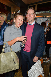 HANNELI RUPERT and KEMPTON ? at a quiz night hosted by Zoe Jordan to celebrate the launch of her men's ZJKNITLAB collection held at The Larrick Pub, 32 Crawford Place, London on 20th April 2016.