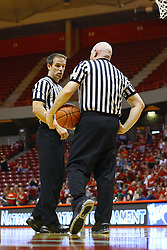 15 March 2012:  Referees Rod Creech and Jeff Cross  during a first round WNIT basketball game between the Central Michigan Chippewas and the Illinois Sate Redbirds at Redbird Arena in Normal IL