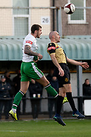 zFootball - 2020 / 2021 FA Trophy - Round Two - Marine vs Hyde United - Rossett Park<br /> <br /> <br /> Hyde United's Bradley Roscoe wins the ball<br /> <br /> <br /> COLORSPORT/TERRY DONNELLY