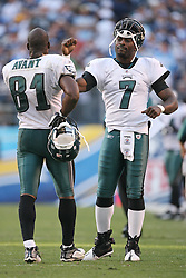 SAN DIEGO, CA - NOVEMBER 15: Michael Vick and Jason Avant of the Philadelphia Eagles during a game against the San Diego Chargers on November 14, 2009 at Qualcomm Stadium in San Diego, California. The Chargers won 31-23. (Photo by Hunter Martin)