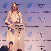 NLD/Utrecht/20150306 - Koningin Maxima bezoekt bijeenkomst  Women Inc.,