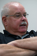 11/7/07 Smith Center, KS..Smith Center High School Head Coach Roger Barta..(Chris Machian/Prairie Pixel Group)