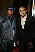 l to r: Talib Kweli and Kevin Liles at The Q-Tip Album release party sponsored by Target held at The Bowery Hotel in NYC on October 28, 2008