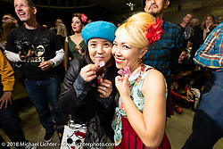 At the Saturday night pre-party for the 27th Annual Mooneyes Yokohama Hot Rod Custom Show 2018. Yokohama, Japan. Saturday, December 1, 2018. Photography ©2018 Michael Lichter.
