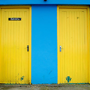Colorful toillet doors at an Ireland's County Clare pub