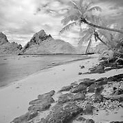 Beaches of Ofu island in American Samoa.