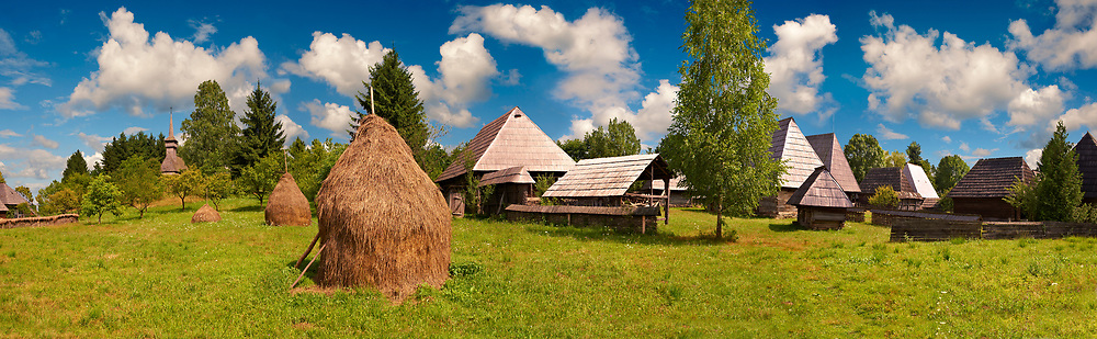 Village museum on Dobaies Hill near Sighet, Maramures, Transylvania .<br /> <br /> Visit our ROMANIA HISTORIC PLACXES PHOTO COLLECTIONS for more photos to download or buy as wall art prints https://funkystock.photoshelter.com/gallery-collection/Pictures-Images-of-Romania-Photos-of-Romanian-Historic-Landmark-Sites/C00001TITiQwAdS8
