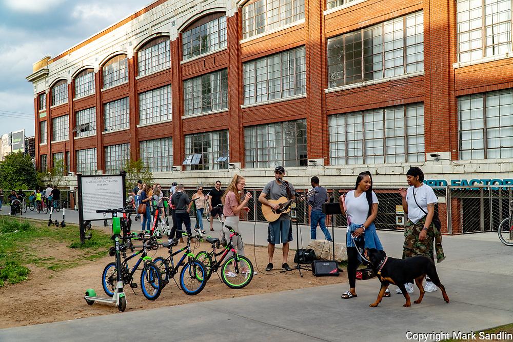 Street  Musicans on the Atlanta Beltline near Ponce City Market, Eastside